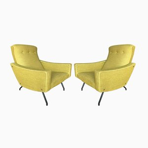 Vintage Armchairs by Joseph André Motte for Steiner, Set of 2