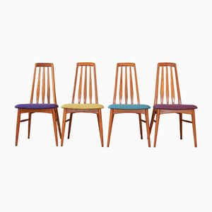 Mid-Century Eva Dining Chairs by Niels Koefoed for Koefoeds Hornslet, 1960s, Set of 4