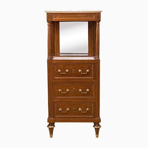 Antique French Mahogany Louis XVI Gentleman Cabinet, 1800s