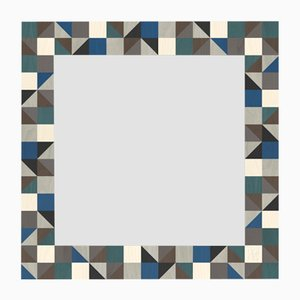 Dolcevita Triangles Inlaid Wood Wall Mirror from Lignis