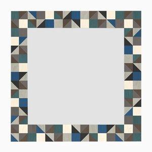 Dolcevita Triangles Wandspiegel im Holzrahmen mit Intarsien von Lignis