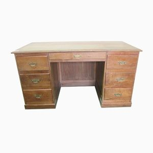 Vintage Coffered Desk