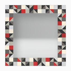 Dolcevita Triangles Wandspiegel im Holzrahmen mit Einlegearbeit von Lignis