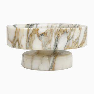 Fruttiera vintage in marmo di Angelo Mangiarotti per Knoll