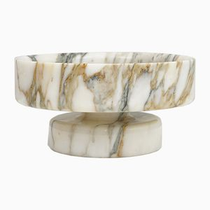Vintage Marble Fruit Bowl by Angelo Mangiarotti for Knoll