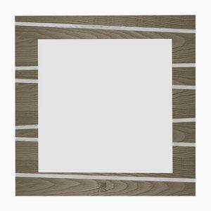 Dolcevita One Light & Dark Gray Frassino Wall Mirror with Black Frassino Edge from Lignis