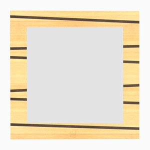 Dolcevita One Oak Wall Mirror with Wenge-Colored Inlay & Edge from Lignis