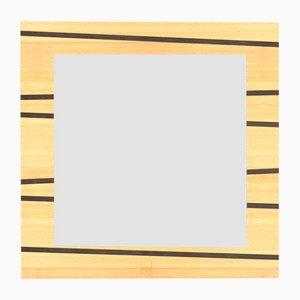 Dolcevita One Wandspiegel aus Eiche mit Einlage und Rahmen aus gefärbter Wenge von Lignis