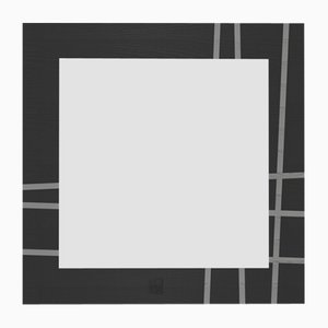 Dolcevita Two Light & Dark Gray Frassino Wall Mirror with Black Frassino Edge from Lignis