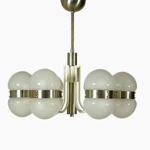 Aluminium & Glass Chandelier, 1960s