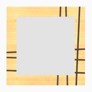 Miroir Mural Dolcevita Two en Chêne avec Incrustation et Bordure Couleur Wengé de Lignis