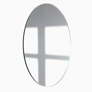 Medium Silver Orbis Round Frameless Mirror by Alguacil & Perkoff