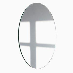 Mittelgroßer runder versilberter Orbis Spiegel ohne Rahmen von Alguacil & Perkoff