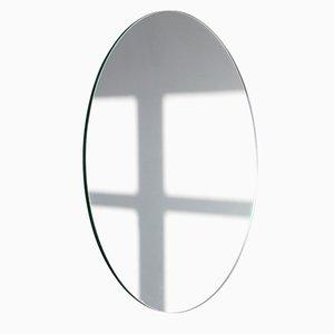 Extra großer runder versilberter Orbis Spiegel ohne Rahmen von Alguacil & Perkoff