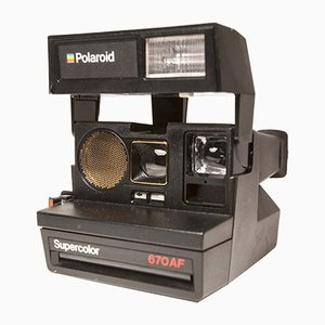 Vintage Supercolor 670 AF Polaroid Camera, 1990s