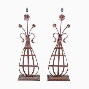 Architektonische französische Lampen, 1860er, 2er Set