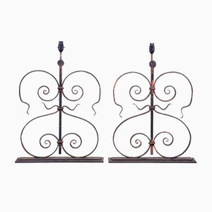 Lámparas francesas del siglo XIX arquitectónicas, década de 1860. Juego de 2