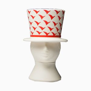 Man with Hat Planter or Bowl by Lisa Larson for Höganäs, 1980s