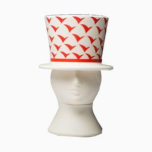 Vaso Man with Hat di Lisa Larson per Höganäs, anni '80