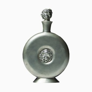 Vintage Swedish Pewter Decanter by Carl Einar Borgström for Ystad Metall, 1930s