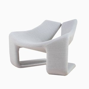 Mid-Century Grey Lounge Chair by Kwok Hoi Chan for Steiner