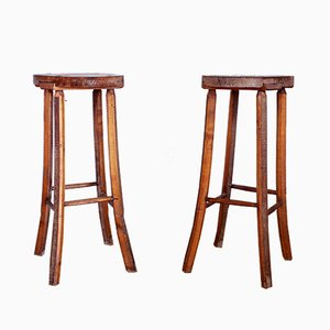 Vintage French Stools, Set of 2