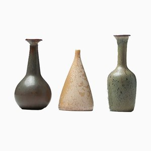 Petit Vases par Gunnar Nylund pour Rörstrand, 1950s, Set de 3