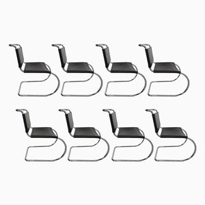 Sedie MR10 di Ludwig Mies van der Rohe per Knoll International, anni '80, set di 8