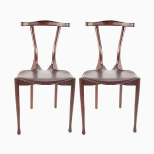 Vintage Dining Chairs by Oscar Tusquets for Carlos Jané, 1987, Set of 2