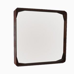 Specchio vintage in legno, anni '50