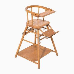 Verstellbarer Babystuhl mit Tisch, 1960er