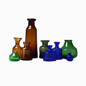 Bubble Glass Vases by Erik Höglund for Boda, 1950s, Set of 9