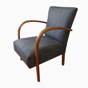 Vintage Beechwood Armchair, 1950s