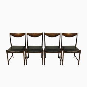 Sedie da pranzo Darby in similpelle nera di Torbjørn Afdal per Bruksbo, anni '60, set di 4