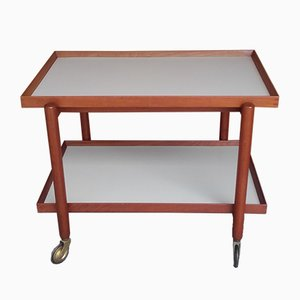 Vintage Adjustable Butler's Tray Trolley by Poul Hundevad for Hundevad & Co.