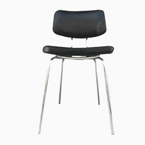 Vintage Black Leatherette Desk Chair