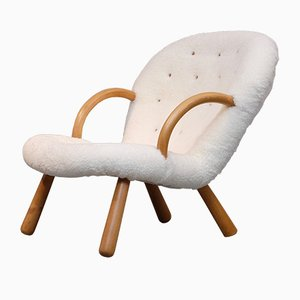 Vintage Clam Chair by Philip Arctander for Nordisk Stål & Møbel, 1940s