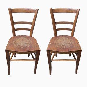 Paar Holzstühle, 1920er