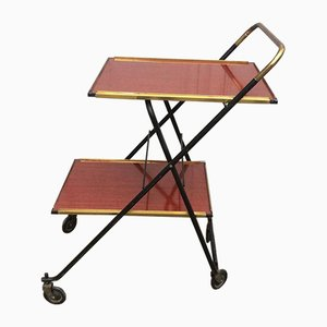Vintage Folding Bar Trolley from Soubrette