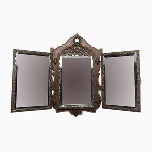Vintage Triptych Mirror