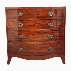Antique Mahogany Bowfront Chest