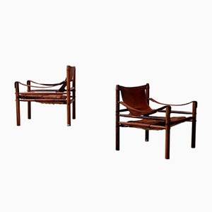 Vintage Sirocco Safari Chairs by Arne Norell for Arne Norell AB, 1960s, Set of 2