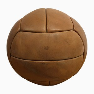 Vintage Leather 3kg Medicine Ball, 1930s
