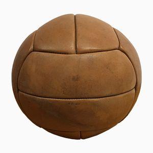 Vintage Leather Medicine Ball, 1930s