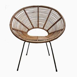 Vintage Rattan Sun Chair, 1950s