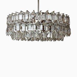 Lámpara de araña vienesa de cristal de J. & L. Lobmeyr para Bakalowits & Söhne, años 60