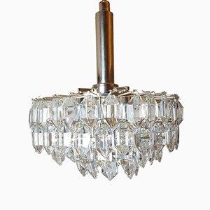 Lámpara de araña vienesa de cristal de Lobmeyr para Bakalowits & Söhne, años 60
