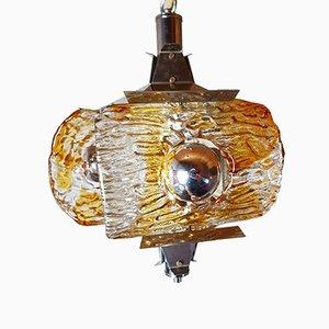 Italienische Vintage Deckenlampe aus Muranoglas, 1970er