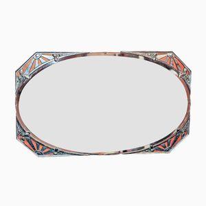 Art Deco Chrome-Plated Wall Mirror, 1920s
