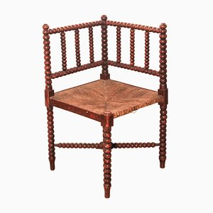 Antique Arts & Crafts Bobbin Corner Chair